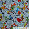 BonEful FABRIC FQ Cotton Quilt White Warner Brothers Bugs Bunny Tweety Bird TAZ