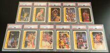1986 Fleer Basketball Complete Sticker Set All PSA 8 #8 Michael Jordan Rookie RC