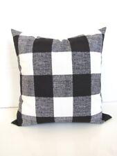 Black  and White Buffalo Check  Throw Pillow    Farmhouse County Chic