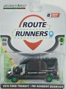 1:64 GreenLight 2015 Ford Transit Van FBI Academy Route Runners 2 Green Machine