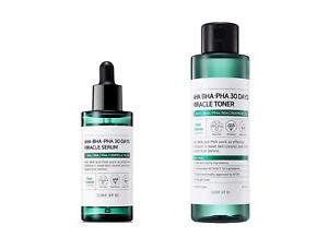 SOME BY MI AHA-BHA-PHA 30 days Miracle Toner + Serum Korean Skincare set - acne