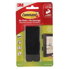 Command Black Large Picture Hanging Strips (4 Pack)