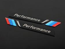 1 Pair Black BMW M Performance Car Sticker Side Fender Badge Emblem Accessories