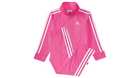ADIDAS new Girls 2 PIECE  Set Track Suit Jacket Pants infant/toddler  PINK