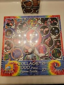"""Grateful Dead """"Collage"""" 1000 Piece Jigsaw Puzzle- 21 1/2 x 21 1/2 in. new in box"""
