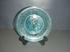 Bryce Higbee Blue Glass Boy Emma ABC Alphabet Plate EAPG #531 C.1893