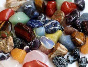500g mixed tumbled stones (12-35mm) crystal tumblestones gemstone