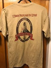 I Tried Polygamy In Utah ~ Lrg ~ Roosters Brewing Pale Ale 2 Sided Beer T Shirt