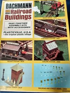 Vintage Bachmann Plasticville USA H0 Railroad Buildings Original Box