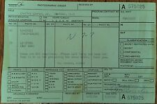 "Astronaut Charles ""Pete"" Conrad Jr. SIGNED McDonnell Douglas Photo order Invoice"