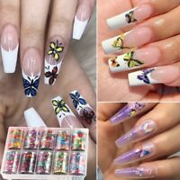 10Rolls/Set DIY Nail Art Decoration Nail Transfer Decals 3D Butterfly Sticker