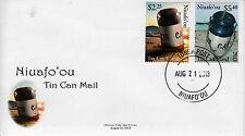 Niuafo'ou 2013 FDC Tin Can Island 2 V Set coprire le navi della posta francobolli