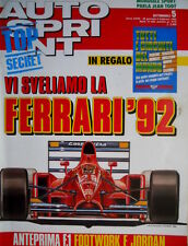 Autosprint 5 1992 Ecco la Ferrari 92. Anteprima F1 Footwork e Jordan  SC.54