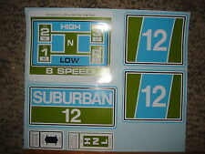 Sears Suburban decals set SUB12 12-hp in Green & Blue 60's and 70's blue/white