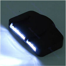 11 LED Black Flashlight Camping Clip-On Cap/Hat Light