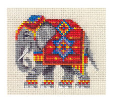 DECORATED INDIAN ELEPHANT Full counted cross stitch kit
