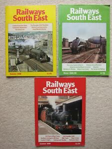 3x Railways South East Magazines - Volume 1, Numbers 2 - 4 (1988 - 1989)