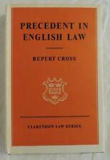 Precedent in English Law by Rupert Cross (1961 Hardback)