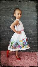 Monnalisa Kleid Abito St.Flowers Arielle Größe 122 / 7 Jahre NEU So19   219 €