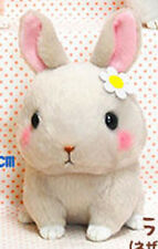 Cute Baby Animals 3'' Gray Bunny Amuse Plush Key Chain NEW