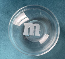 M&M Round Clear Glass Candy Trinket Dish with Lid