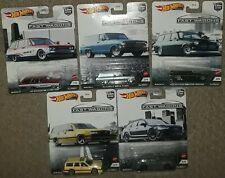 Hot Wheels Car Culture Fast Wagons set of 5 sealed nissan skyline volvo amazon