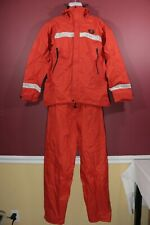 Raintec Rain Gear U.S. Coast Guard Auxiliary Orange Jacket & Pants model 610 LG
