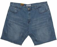 Mens Chisel Jeans Big Mens Blue Washed Stretch Straight Leg Shorts CJ-2874BS-S