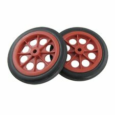 "2 Pcs Replaceable Shopping Basket Cart 4.4"" Wheels Red Black G4U3"