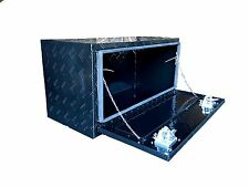 "36"" Aluminum Truck Underbody Underbed Tool Box Trailer Bed Rail Storage BLACK"