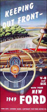 1949 Ford Car Owners Manual for V8 and 6 Cyl 49 Owner User Instruction Guide