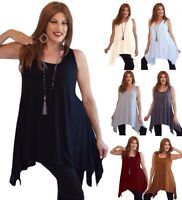 Sexy Womens Cami Top- Stretch Jersey Asymmetrical- M159 Plus Sizes LotusTraders