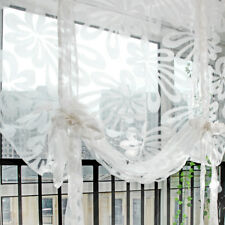 Elegant Floral Roman Curtain Window Sheer Balloon Shade Kitchen Bedroom #1