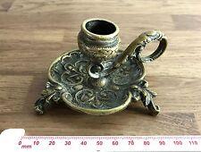 Vintage Cast Brass Art-Nouveau Style Candlestick - VGC