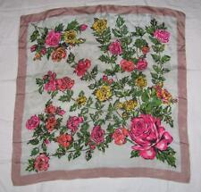 Vintage Baar & Beard Hand Rolled Pure Silk Scarf 34 X 34 Occupied Japan Roses