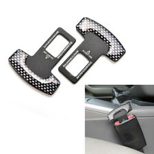 2PC Car Auto Seat Belt Stop Alarm Eliminator Canceller Safety Insert Buckle Plug