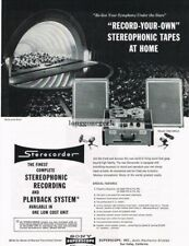 1958 Sony Superscope CSS-555-A Reel-to-Reel Tape Recorder Deck Vtg Print Ad
