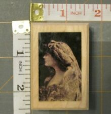 WOMAN PROFILE rubber stamp Eclectic Omnibus wood mounted