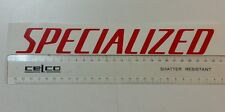 Red Specialized vinyl sticker / decal