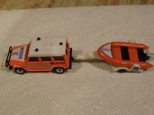 Matchbox Mb-30 Mercedes Benz 280 G Rescue Unit+ Inflatable Boat On Trailer Nice!