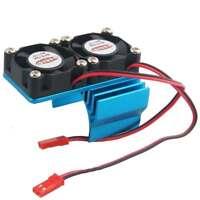 1/10 Rc Car Motor Heatsink Dual Fan For Traxxas Hpi Losi Associated Arrma Tamiya