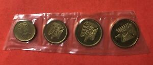 1966 -EGYPT- 4 UNC SEALED PROOF ..RARE..LOW MINTAGE