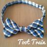 Children Kids Toddler Boys Check Plaid Bowtie Pre Tied Bow Tie Necktie Blue