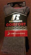 Russell performance comfort boys crew socks 4 pack medium shoe size 9 - 2.5