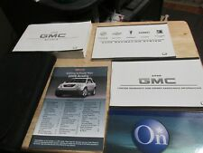 08 2008 GMC Acadia owners manual set with Navigation manual book