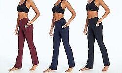 "Bally Total Fitness Women's Pocket Slim Pant 32"" Black Small (4-6)"