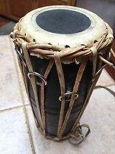 "Authentic Handmade Indian Tabla Wooden Drums.. 10"" tall"