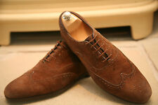 Vintage Edward Green Men's English Handmade Brown Suede Shoes Size UK 9.5