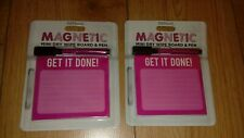 WH Smith Pink Magnetic Mini Dry Wipe Board And Pen X2 (11cm x 9.5cm)