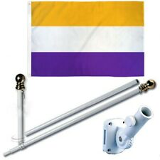 National Women's Rights 3 x 5 Ft Flag + 6 Ft Spinning Tangle Free Pole + Bracket